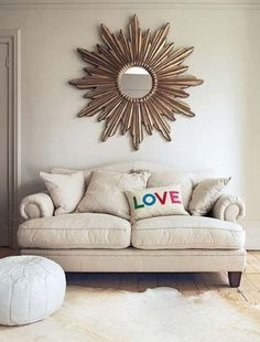Sofa . . .  love the pillow!