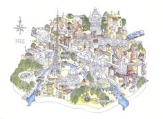 Paris map by Idriss-Gabriel Azougay