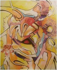 """""""V altánu"""", akryl 47x57 cm."""