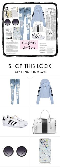 """Untitled #59"" by pinokio-pinokio ❤ liked on Polyvore featuring Boohoo, adidas, MICHAEL Michael Kors and Alice + Olivia"