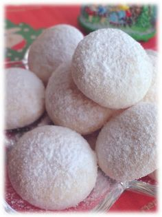"Sweets for Christmas Snowball Cookies! ""When it's close to Christmas, I love to bake snowball cookies. They're so delicious with an almond aroma in your mouth They're very easy to make so it is a good idea to make in bulk and give to your friends. Recipe by Nyanyadeko"" @allthecooks #recipe #christmas #cookies"