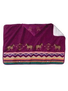 Pendleton Painted Pony Hooded Baby Towel http://lizann.myshopify.com/products/pendleton-painted-pony-hooded-baby-towel