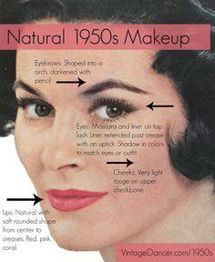 Natural 1950s Make Up