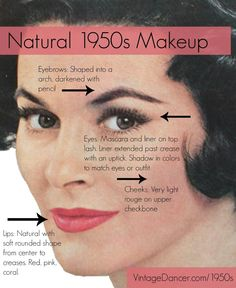 Natural 1950s Make Up