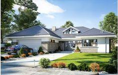 Projekt domu Wyjątkowy 2 - 201.09 m2 - koszt budowy 361 tys. zł Home Fashion, Planer, Bungalow, Patio, Contemporary, Mansions, House Styles, Outdoor Decor, Home Decor