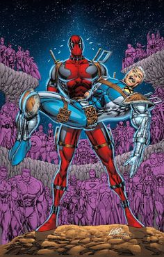 Deadpool & Cable #25 artwork by Rob Liefeld (apologies to George Pérez)