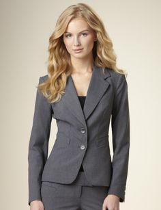 Suits for Women: Grey Essential Jacket: The Limited