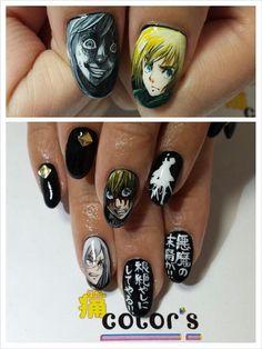 進撃の巨人(Attack on Titan)☆アルミン : Character nail art