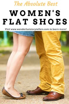 The best women's flat shoes for work, home & travel.  Find the cutest and most comfortable flats here.  Click to see the list! #fashion #travelgear #shoes