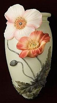 Chinese Poppies Wall Vase