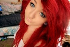 I really wish i could pull off bright red hair....