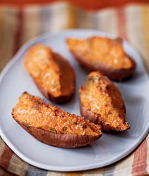 Twice-Baked Sweet Potatoes with Ricotta