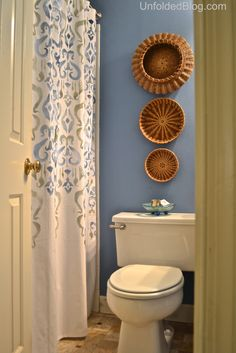 Stenciling A Shower Curtain Using An Ikat Pattern And Chalk Paint® decorative paint by Annie Sloan   Unfolded Blog
