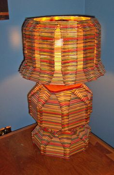 lamps Made with Popsicle Sticks | Popsicle stick lamp from Port Rowan