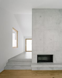 Flavio Loretz Architekt - House in Trin, Photos © Rasmus Norlander. Concrete Interiors, Wood Interiors, Residential Architecture, Interior Architecture, Interior Design, Architecture Plan, Interior Ideas, Exposed Concrete, Concrete Walls