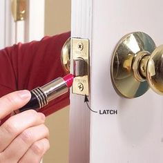 Fix a Door That Won't Close  Solve door latch problems fast. When houses settle, doors can settle along with them, resulting in misaligned door latches. Solve the problem with a file, a chisel, and a dab of lipstick (any shade will do).