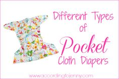 Different Types of Pocket Cloth Diapers.