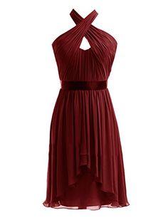 Diyouth Halter High-low Chiffon Short Bridesmaid Dress Burgundy Size 18 Plus Diyouth http://www.amazon.com/dp/B00LQN42YU/ref=cm_sw_r_pi_dp_OP47tb1VM1732