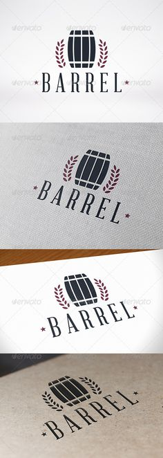 Barrel Logo Template — Vector EPS #talk #glass • Available here → https://graphicriver.net/item/barrel-logo-template/8025744?ref=pxcr