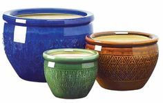 Jewel Tone Planter Trio... Bring a burst of color to your garden! $59.99 SALE $45.00