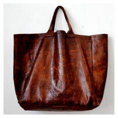brown leather bag, VDC for la Liane