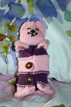 Purple Pink with Shawl Knitted Cat. Adorable Cat Stuffed Toys. Knitted Stuffed Toys. Cat Toys, Children's Toys. Knitted items. S/M/L XL by JewelleryInspired4U, $16.99 USD