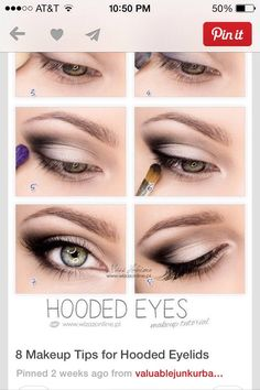 8 Makeup Tips For Hooded Eyelids!!