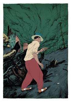 Oliver Bonhomme Illustration –more (jazzy) images @ http://www.juxtapoz.com/Illustration/olivier-bonhomme-illustration –Oliver Bonhomme, Acid Jazz, Illustration
