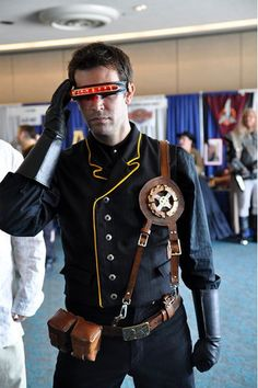 Marvel Comics Cosplay! X-Men Cyclops as steampunk crossover!!