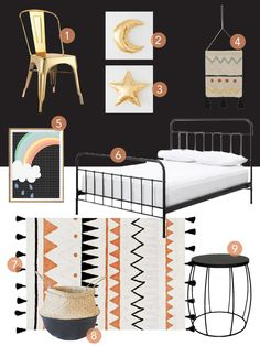 Easily recreate this funky, bohemian chic look for your little adventurer with this Aztec-inspired decor and furniture. Little Monkeys, Adventurer, Get The Look, Aztec, Toddler Bed, Clever, Bohemian, Inspired, Chic