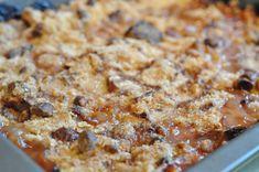 Rabarbercrumble med mandler og marcipan