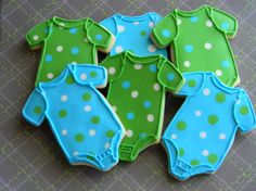 Baby Boy Onesie Cookies by CookiesEct on Etsy
