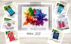 """Ich zeige euch den gesamten Inhalt der Bipa Bonusbox vom März 2021, die unter dem Motto """"Ein fest für Farben"""" steht. Motto, Box, Cover, Colors, Snare Drum, Mottos"""