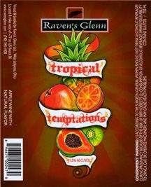 Tropical Temptations - Raven's Glenn Winery - wine label design by Sara Nelson Design in Washington state