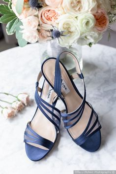 Something blue idea - adorable blue wedding day shoes {Tiffany McNair Photography}