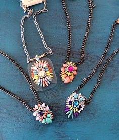 Springtime Jewels | These necklaces are just simply fabulous!!! The rich tones and vibrancy of the jewels make these must haves to your wardrobe. | Renee's At The Red Door - Lufkin, TX