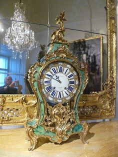 Eisenstadt, Burgenland, Austria - Schloss Esterhazy (Palais de Esterhazy, Palazzo di Esterhazy, Palacio de Esterhazy, Esterhazy Palace) Large Vintage Wall Clocks, Large Clock, Classic Clocks, Wall Clock Online, Palace Of Versailles, As Time Goes By, Old Clocks, Diy Clock, Rococo Style