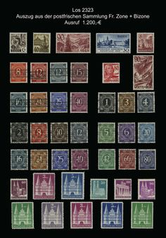 Fr. Zone + American/British zone 1945-1949 ** : mint never hinged quality collection on Borek pages with mounts, as well Fr. zone complete including 46 II certificate with photograph Schlegel BPP. Furthermore American/British zone with amongst other things no. 52-68 I expertized, 52-68 II certificate with photograph Schlegel BPP  Dealer - Bielefelder Auction  Auction Minimum Bid: 1200.00EUR