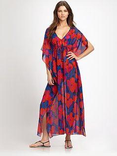 Tory Burch - Printed Silk Caftan
