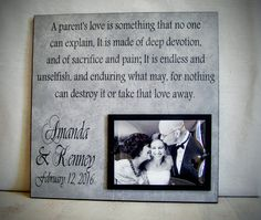 Custom Wedding Thank You Gift for Parents, 12x12 Parent of the Bride Thank You Gift, Father of the Bride, Wedding Gift Idea for Parents