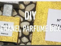 Another unused box DIY/recycle! I have loads of boxes around my house and I've seen a lot of this Chanel Parfume DIY so I decided to make one, . Diy Recycle, Recycling, Diy Box, Creative Crafts, Hobbies And Crafts, Boxes, Chanel, How To Make, Crates