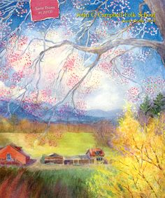 """The 2014 Catalog features Spring at Tower House, a watercolor painting by Folk School instructor Suzy DesLauriers. Suzy says, """"Within each of us lies the heart of an artist waiting for an awakening into a new vision."""""""