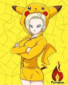 Dragon Ball Z, Dragon Z, Wallpaper Animé, Pokemon, Android 18, Sonic Art, Anime Crossover, Kawaii Anime, Character Art