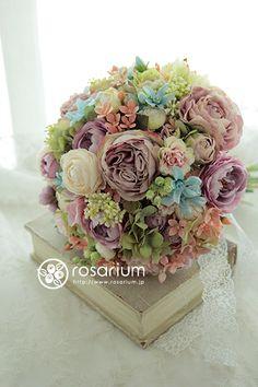 rosarium アーティフィシャルフラワー artificial flower Wedding bouquet                                                                                                                                                                                 もっと見る