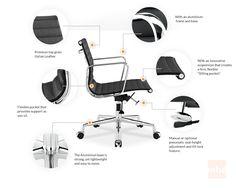 Aluminum Group Soft Pad Management Chair (Eames Executive Management Chair  Replica) | Interiors | Pinterest | Management