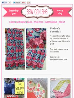 Check out this Mad Mimi newsletter   tab top curtain tutorial
