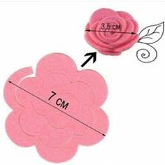 The paper roses are pretty easy to make. I used this template rose and printed it several times at various sizes on a word document. Paper Flowers Diy, Paper Roses, Handmade Flowers, Flower Crafts, Fabric Flowers, Flower Svg, Felt Diy, Felt Crafts, Diy And Crafts