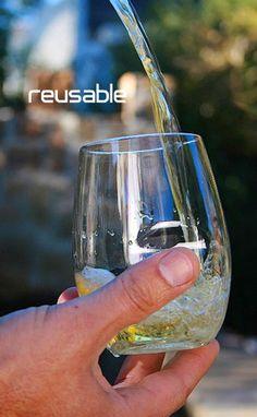 GoVino shatterproof, reusable, recyclable plastic polymer glasses. For entertaining.