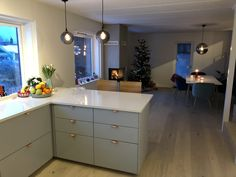 Christmas holiday in our new house is wonderful! Room Lamp, Carrara, White Marble, Christmas Holidays, Kitchen Design, New Homes, Interior Design, House, Home Decor