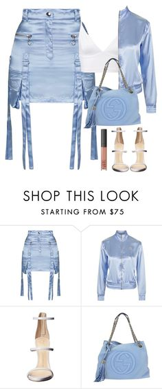 """""""475."""" by h4rrypotro ❤ liked on Polyvore featuring Topshop, Giuseppe Zanotti, Gucci and NARS Cosmetics"""